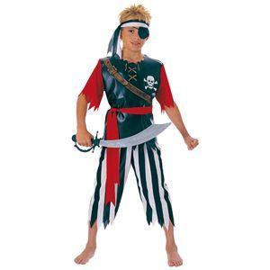 【コスプレ】 RUBIE'S(ルービーズ) CHILD(チャイルド) コスプレ Pirate King(パイレット キング) Lサイズ - 拡大画像