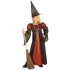 RUBIE'S(ルービーズ) CHILD(チャイルド) コスプレ Red Sparkle Witch(レッド スパークル ウィッチ) Sサイズ - 拡大画像