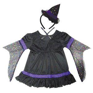 【コスプレ】 RUBIE'S(ルービーズ) CHILD(チャイルド) コスプレ Purple Twinkle Witch(パープル トゥウィンクル ウィッチ) Mサイズ - 拡大画像