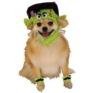 RUBIE'S(ルービーズ) PET(ペット用コスプレ) ペットコスプレ Headpiece & 4 Paw Cuffs Mini Monster(ヘッドピース & 4 パーティー カフス ミニ モンスター) Mサイズ - 拡大画像
