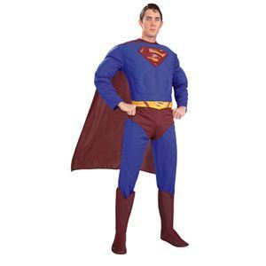 RUBIE'S(ルービーズ) SUPERMAN(スーパーマン) コスプレ Adult Dx. Superman(アダルト スーパーマン) Lサイズ - 拡大画像