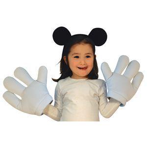 【コスプレ】 RUBIE'S(ルービーズ) DISNEY(ディズニー) 手ぶくろ(コスプレ用) Mickey Mouse Headband & Glove Set(ミッキー マウス ヘドバンド & グローブ セット) - 拡大画像