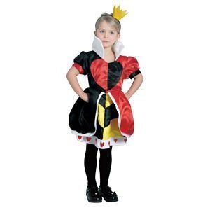 【コスプレ】 RUBIE'S(ルービーズ) DISNEY(ディズニー) コスプレ Child Queen Of Hearts(クイーン オブ ハーツ) Mサイズ - 拡大画像