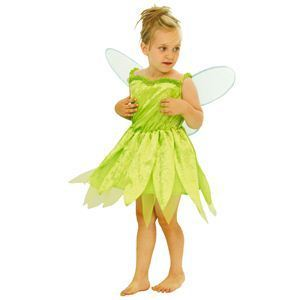 【コスプレ】 RUBIE'S(ルービーズ) DISNEY(ディズニー) コスプレ ピーターパンシリーズ Child Tinkerbell(ティンカーベル) Sサイズ - 拡大画像