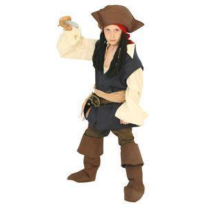 【コスプレ】 RUBIE'S(ルービーズ) DISNEY(ディズニー) コスプレ PIRATES of the CARIBEAN(パイレーツ・オブ・カリビアン)シリーズ Child Jack Sparrow(ジャッ・スパロウ) Sサイズ - 拡大画像