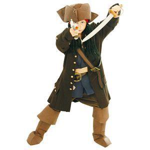 【コスプレ】 RUBIE'S(ルービーズ) DISNEY(ディズニー) コスプレ PIRATES of the CARIBEAN(パイレーツ・オブ・カリビアン)シリーズ Child Deluxe Jack Sparrow(ジャッ・スパロウ) Sサイズ - 拡大画像