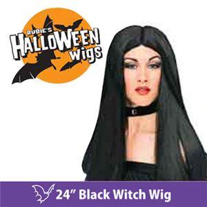 """【コスプレ】 RUBIE'S (ルービーズ) 50700 24"""" Black Witch Wig(ウィッグ) - 拡大画像"""