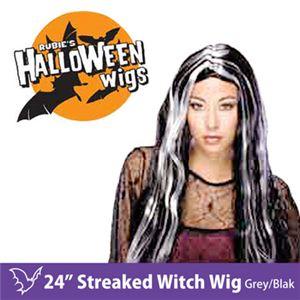"""【コスプレ】 RUBIE'S (ルービーズ) 50703 24"""" Streaked Witch Wig - Grey/Black(ウィッグ) - 拡大画像"""