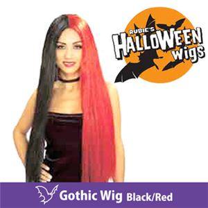 【コスプレ】 RUBIE'S (ルービーズ) 51199 Gothic Wig -Black/Red(ウィッグ) - 拡大画像