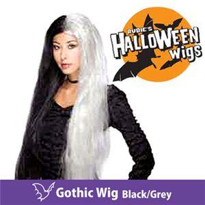 【コスプレ】 RUBIE'S (ルービーズ) 51381 Gothic Wig -Black/Grey(ウィッグ) - 拡大画像