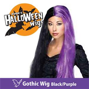 【コスプレ】 RUBIE'S (ルービーズ) 51380 Gothic Wig -Black/Purple(ウィッグ) - 拡大画像