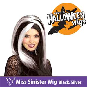 【コスプレ】 RUBIE'S (ルービーズ) 51462 Miss Sinister Wig - Black/Silver(ウィッグ) - 拡大画像