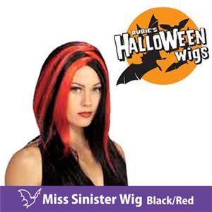【コスプレ】 RUBIE'S (ルービーズ) 51463 Miss Sinister Wig - Black/Red(ウィッグ) - 拡大画像