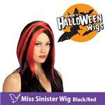 【コスプレ】 RUBIE'S (ルービーズ) 51463 Miss Sinister Wig - Black/Red(ウィッグ)