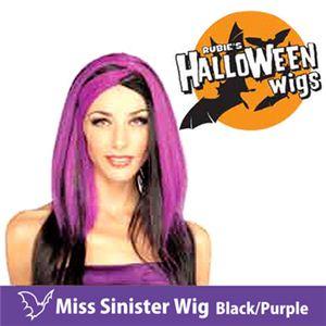 【コスプレ】 RUBIE'S (ルービーズ) 51464 Miss Sinister Wig - Black/Purple(ウィッグ)