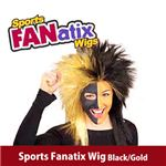 【コスプレ】 RUBIE'S (ルービーズ) 51387 Sports Fanatix Wig - Black/Gold(ウィッグ)