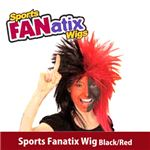 【コスプレ】 RUBIE'S (ルービーズ) 51388 Sports Fanatix Wig - Black/Red(ウィッグ)