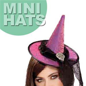 【コスプレ】 RUBIE'S (ルービーズ) 49893 Hot Purple Mini Witch Hat(ミニハット) - 拡大画像