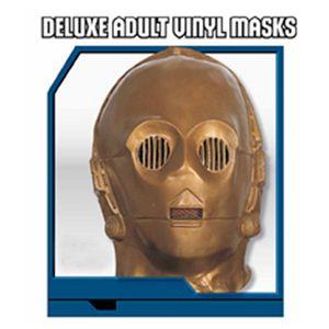 【コスプレ】 RUBIE'S (ルービーズ) 2866 スターウォーズ Deluxe adult vinyl masks C-3PO(マスク) - 拡大画像