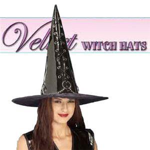 【コスプレ】 RUBIE'S (ルービーズ) 49029 Black Vinyl Witch Hat 49029 (ハット) - 拡大画像