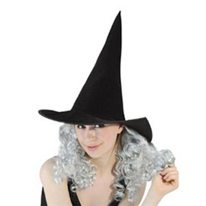 RUBIE'S (ルービーズ) 802695 Witch Hat with Silver Curly Hair - 拡大画像