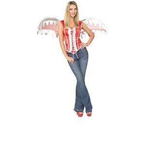 【コスプレ】 RUBIE'S (ルービーズ) 887027 Red Bodice w/Wings - 拡大画像