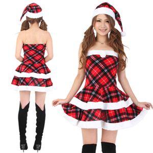 【クリスマスコスプレ】Short-p501D レディースサンタ・ショート501(チェック柄) - 拡大画像
