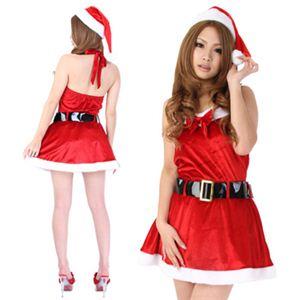 【クリスマスコスプレ】Short-p502A レディースサンタ・ショート502(赤) - 拡大画像