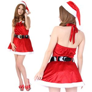 【クリスマスコスプレ】Short-p502A レディースサンタ・ショート502(赤)の写真2