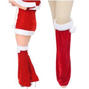 【クリスマスコスプレ】SNT002A サンタ・レッグウォーマー - 拡大画像