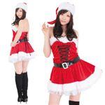 【クリスマスコスプレ】レディースサンタ ショート レースアップ M