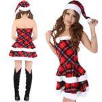 【クリスマスコスプレ】Short-p501D1 レディースサンタ・ショート501(チェック柄)