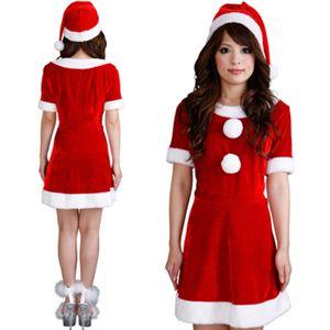 【クリスマスコスプレ】Short-p505A レディースサンタ・ショート 505 - 拡大画像