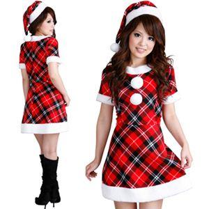 【クリスマスコスプレ】Short-p505D レディースサンタ・ショート 505 チェック柄 - 拡大画像