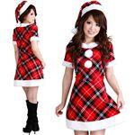 【クリスマスコスプレ】Short-p505D レディースサンタ・ショート 505 チェック柄