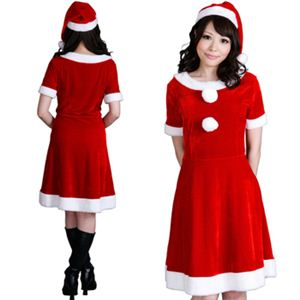 【クリスマスコスプレ】Short-p508A レディースサンタ・ショート 508 - 拡大画像