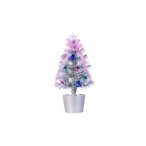 【クリスマス】ファイバーツリー シルバー 30cm 15598-MR882 - 拡大画像
