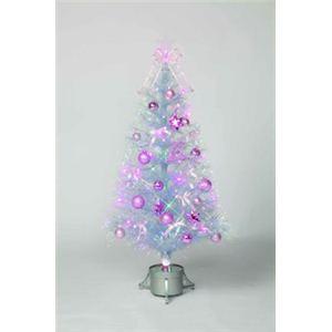 【クリスマス】LEDファイバーセットツリー オーロラ 120cm 15611-MR895 - 拡大画像
