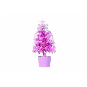 【クリスマス】ファイバーツリー ピンク 30cm 15596-MR880 - 拡大画像