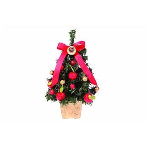 【クリスマス】デコレーションツリー アップル 18cm ライト付 15570-DT445 - 拡大画像
