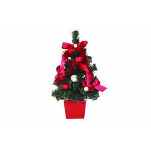 【クリスマス】デコレーションツリー プラム 18cm ライト付 15568-DT443 - 拡大画像