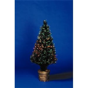 【クリスマス】ブラックファイバーツリー90cm 94031-MR573 - 拡大画像