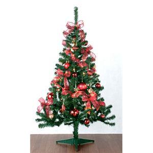 【クリスマス】セットツリー Hi-RD 150cm 90550 - 拡大画像