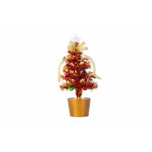 【クリスマス】ファイバーツリー ゴールド 30cm 15593-MR877 - 拡大画像