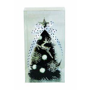 【クリスマス】ミニデコレーションツリー14cm ブラック 15293-DT320 - 拡大画像