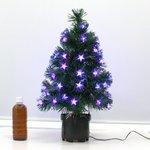【クリスマス】60cmLED&光ファイバーツリー(クリスマスツリー/スターフラッシュ) T413-60