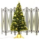 【クリスマス】60cm光ファイバーツリー(クリスマスツリー 金色装飾/金色葉) T403-60