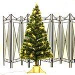 【クリスマス】180cm光ファイバーツリー(クリスマスツリー 金色装飾/金色葉) T403-180