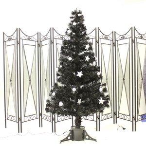 【クリスマス】150cmブラック光ファイバーツリー(クリスマスツリー/プラネット) T316-150