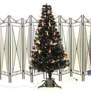 【クリスマス】120cmブラック光ファイバーツリー(クリスマスツリー/LEDランタン) T601-120 - 拡大画像